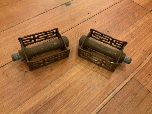 Details about  /Vintage Antique Track Bicycle Pedal Set 9//16 Thread