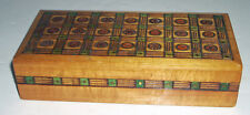 Vintage Hand Decorated Pyrography Divided Wooden Box Tatra Mountains Poland
