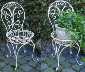 Détails sur Presentoir A Plantes Chaise Pot de Fleurs Porte- Deco  Décoration Jardin Métal W