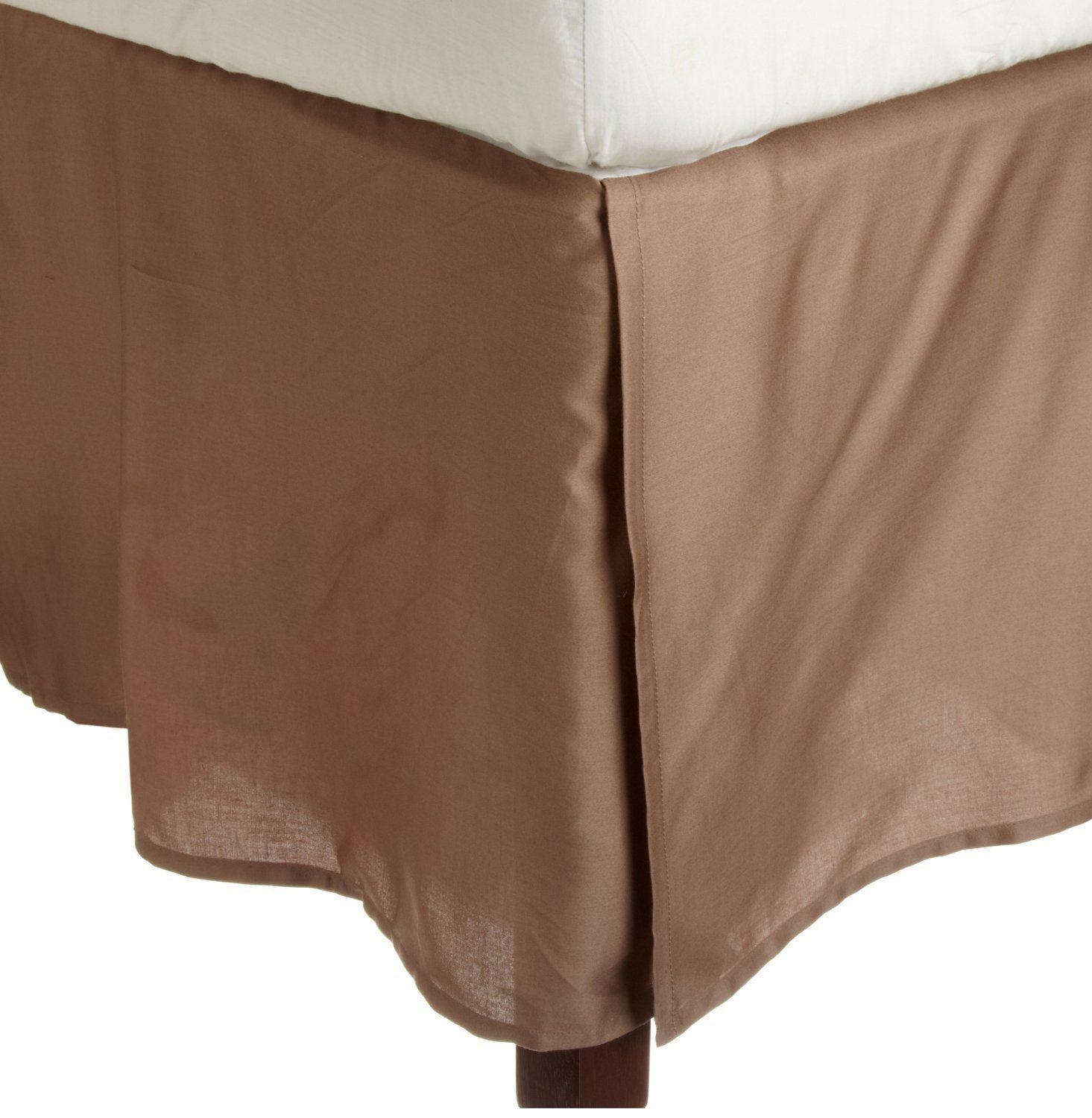 1000TC Taupe Solid Bed Skirt Select Drop Length All US Size 100% Egy. cotton