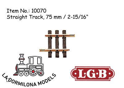 Lgb 10070 Gerades Gleis, 75 Mm Straight Track / Spur G / New Ultimo Stile