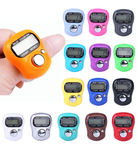 Mini Digital LCD Display Electronic Finger Hand Ring Row Tally Counter Adjustabl