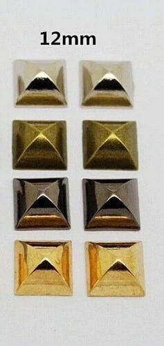 """1//2/"""" x 1//4/"""" 1066 12 x 6mm Choose Finish PYRAMID Metal Studs 1//4/"""" post 20pc"""