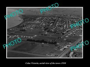OLD-LARGE-HISTORIC-PHOTO-COLAC-VICTORIA-AERIAL-VIEW-OF-THE-TOWN-c1930-1