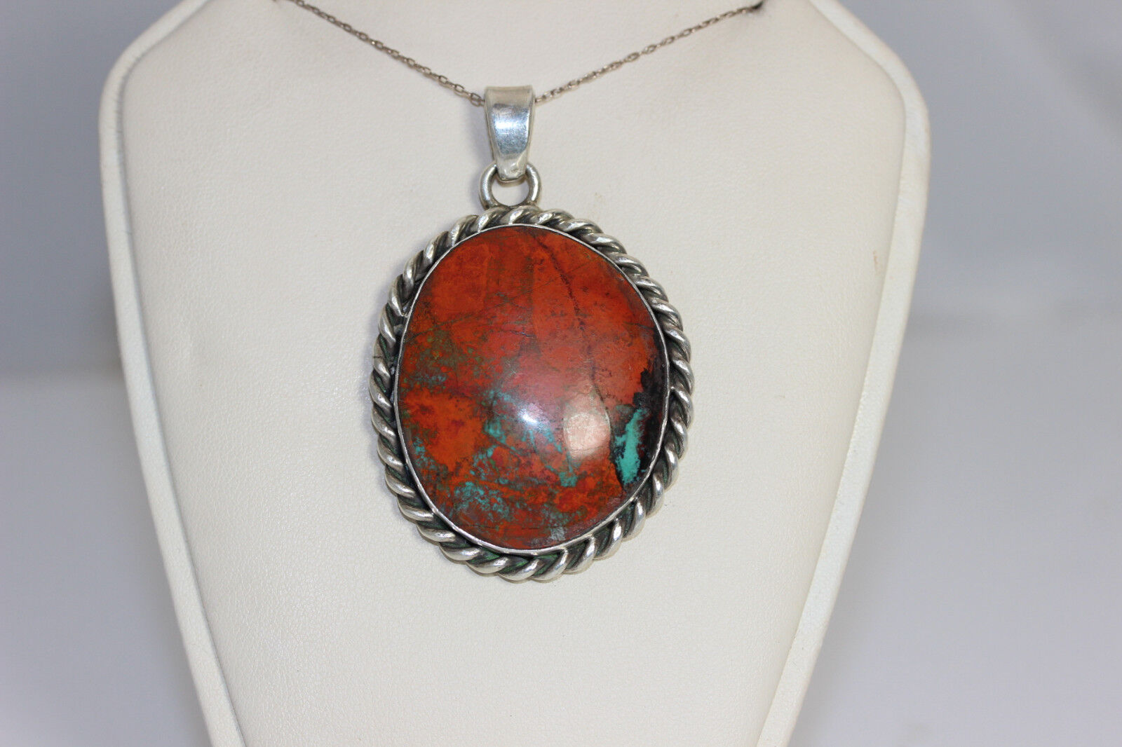 Gorgeous Multicolord Turquoise Pendant 2.5 - 12611