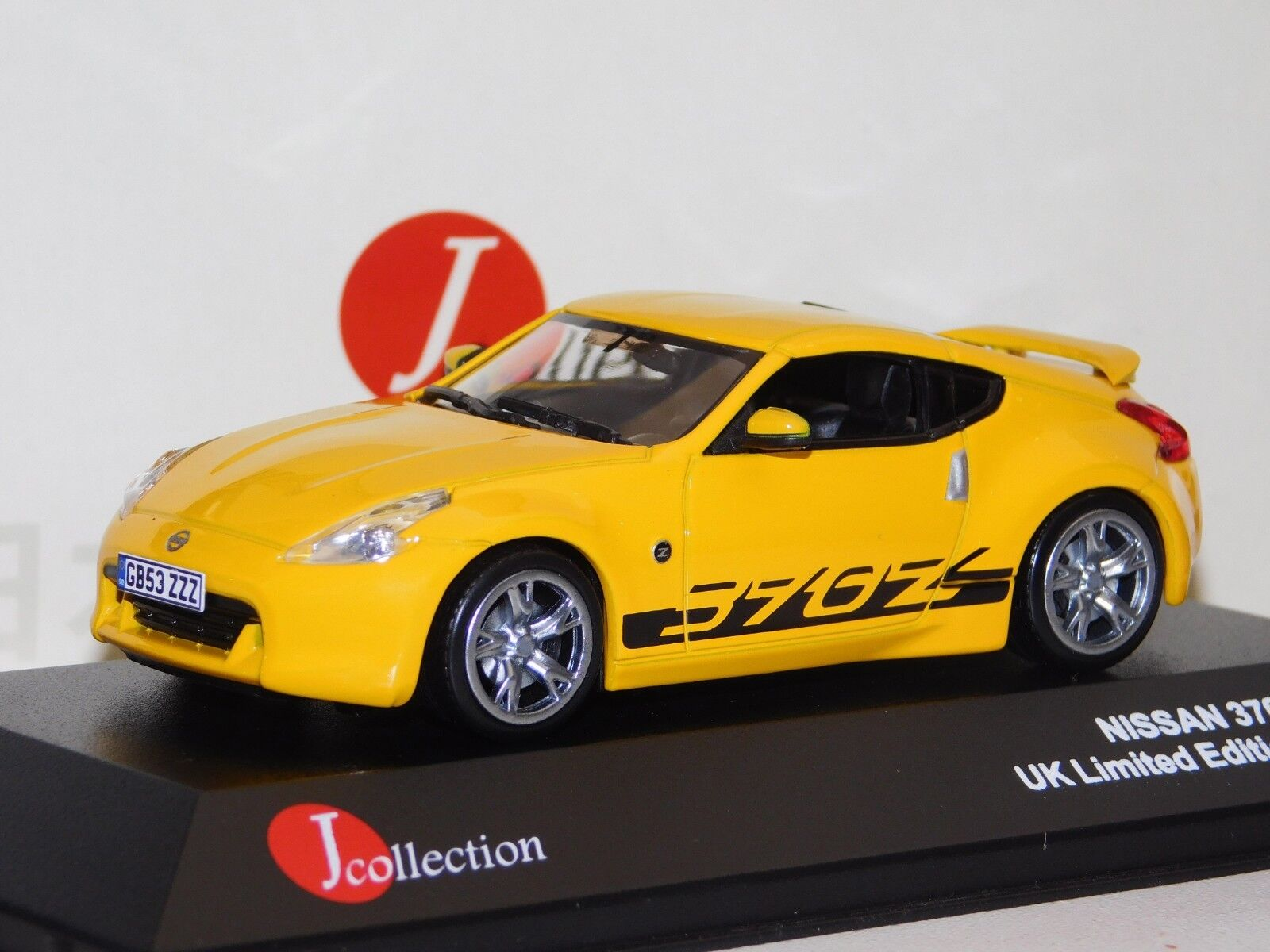 NISSAN 370Z 2009 UK LIMITED EDITION YELLOW J COLLECTION JC160 1 43