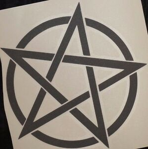 Bumper-car-Vinyl-Sticker-Motorbike-decal-window-Bike-vehicle-Wicca-pentagram