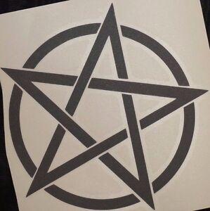 Bumper-car-Vinyl-Sticker-Motorbike-decal-window-Bike-vehicle-Wicca-pentagram