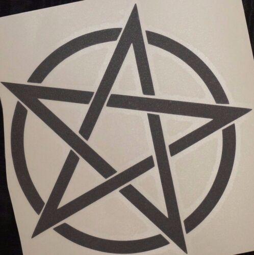 Bumper car Vinyl Sticker Motorbike decal window Bike vehicle Wicca pentagram