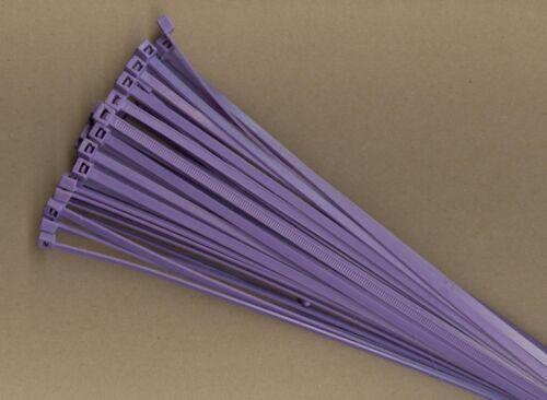 "100 14"" Inch Long 50# Pound PURPLE Nylon Cable Zip Ties Ty Wraps MADE IN USA"