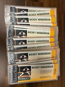 (40) Rickey Henderson 1991 Field of Vision SilverStar AuthenTicket Baseball Lot