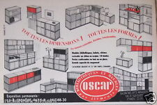 PUBLICITÉ 1957 OSCAR MEUBLES BIBLIOTHEQUES BAHUTS CHÊNE OU ACAJOU - ADVERTISING