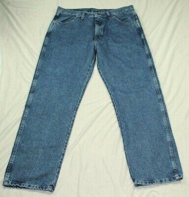 Rustler By Wrangler Mens Regular Fit Straight Leg Med Blue Stonewash Denim Jeans