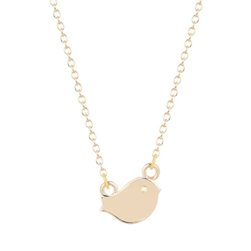 Gold Silver Animal Bird Pendant Choker Necklaces for Women Men Collares Jewelry