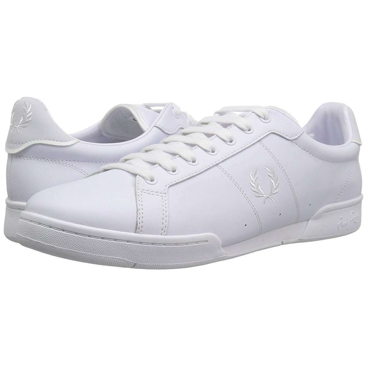 Fred Perry Men Casual shoes B722 Leather Sneakers White