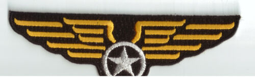 Pilot Air Stuawart Wingman Wing Uniform Embroidered Sew Iron On Badge Patch #838