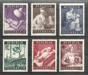 """Österr. 1954 Satz """"Gesundheitsfürsorge"""" ANK Nr. 1008 - 1013 ** - Graz, Österreich - Österr. 1954 Satz """"Gesundheitsfürsorge"""" ANK Nr. 1008 - 1013 ** - Graz, Österreich"""