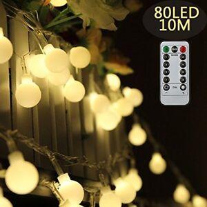 Image Is Loading Tomshine Globe String Lights 0 6w 10m 80leds