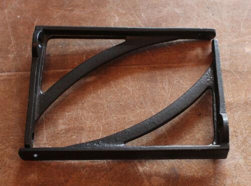 "x2 Pair of 6/"" x 4/"" BLACK INDUSTRIAL ANTIQUE CAST VICTORIAN SHELF BRACKETS BR22b"