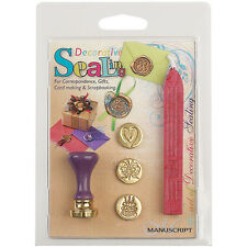 Decorative Sealing Set W/Pink Wax-Butterfly, Cake & Heart Coins
