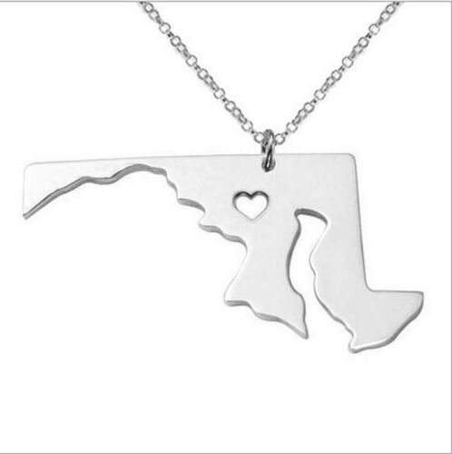 Hot Style Silver USA State of 316L Stainless Steel Pendant Necklace Pick