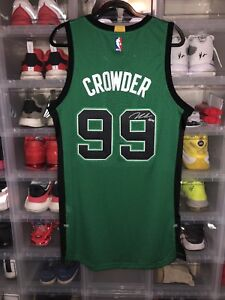 reputable site bce42 c5903 Details about Rare Boston Celtics Game Issued Jae Crowder Autographed  Authentic Jersey Adidas