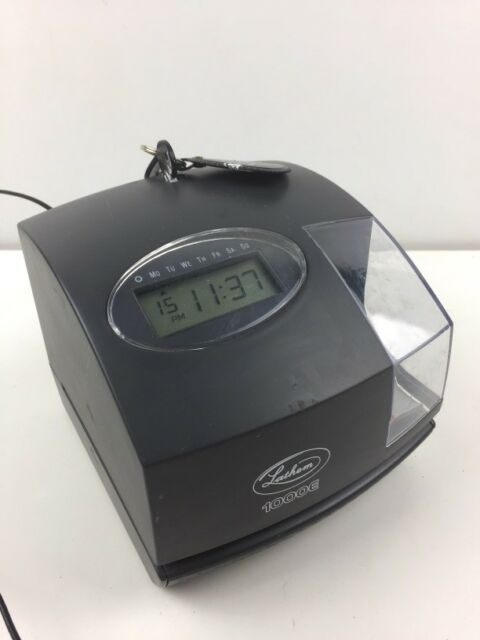 Lathem 1000E Electronic Time Clock Recorder and Document Stamp for sale online