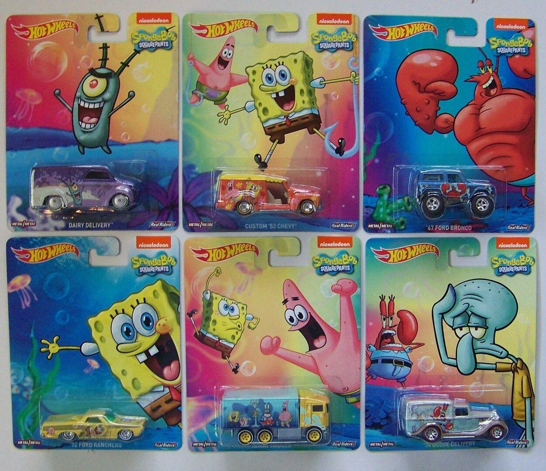 2015 Hot Wheels Pop Culture Sponge Bob Set of 6