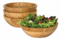 Lipper International Small Bamboo Bowls, Set Of 4 , New, Free Shipping on sale