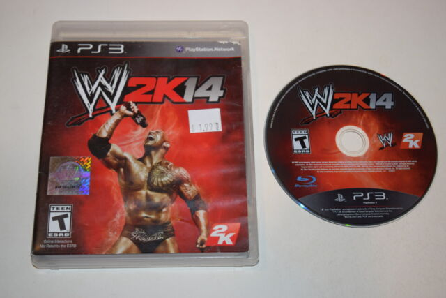 WWE 2K14 Playstation 3 PS3 Game Disc w/ Case