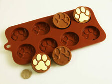 8 cell Paw Print Cat Dog Chocolate Candy Cookie Silicone Bakeware Mould Cake