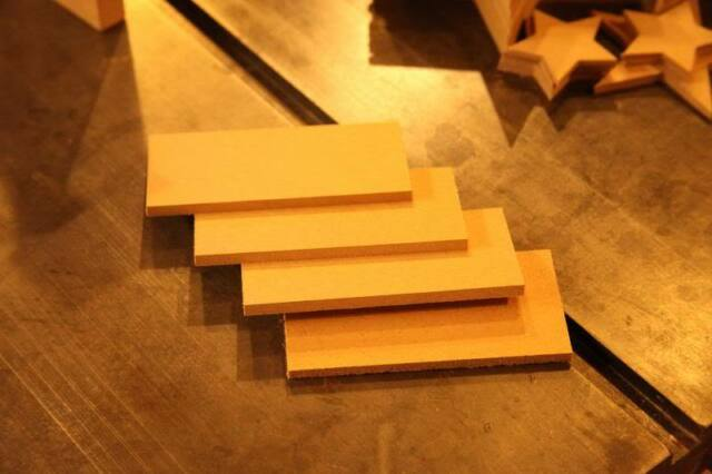 "4x small  WOODEN PLAQUE RECTANGLE 5"" x 2 1/2"" (125x65mm) 3mm MDF CRAFT BLANK"