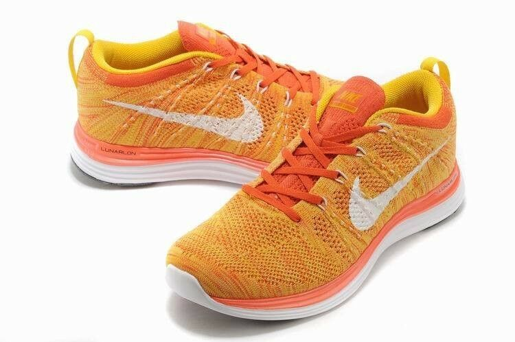 Nike Flyknit Lunar1+ Men's Running Shoes Laser Orange 554887 881 SIZE 11 Price reduction Great discount