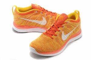 Men's Nike Flyknit Lunar One Running Shoes Team Orange /Laser Orange 554887 881