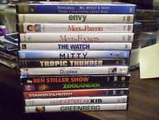 (14) Ben Stiller Comedy DVD Lot: Dodgeball  Envy  The Watch  Walter Mitty Duplex