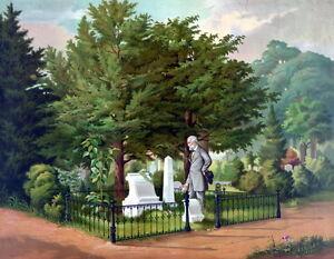 New-13x16-Poster-General-Robert-E-Lee-at-Thomas-034-Stonewall-034-Jackson-Grave