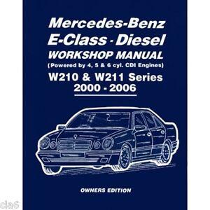 mercedes benz e class w210 and w211 cdi diesel workshop manual 2000 rh ebay co uk mercedes w210 service manual pdf mercedes w210 service manual pdf