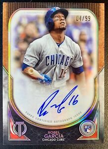 2020 Topps Tribute ROBEL GARCIA Autograph Rookie SP /99 Chicago Cubs RC