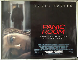 Cinema Poster Panic Room 2002 Quad Jodie Foster Forest Whitaker Jared Leto Ebay