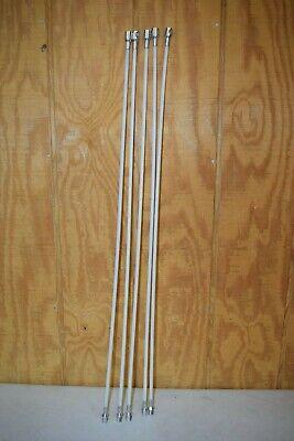 """5 ButtonLok Fiberglass Chimney Sweep Rods 3 Feet Each 15 Feet Total 3//8/"""""""
