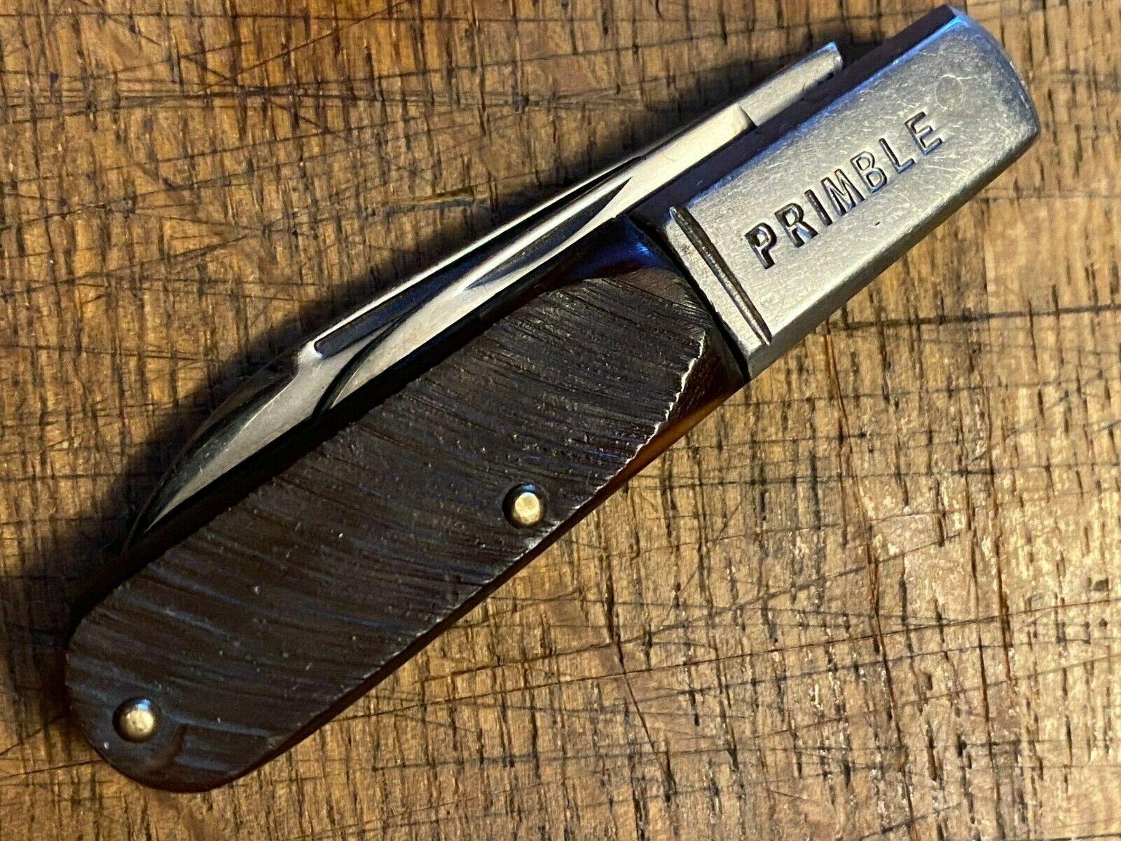 Vintage John Primble Belknap MINT fully etched LP spear blade barlow knife
