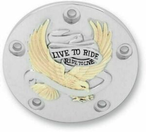 Drag Specialties Chrome Live to Ride Fuel Door for 1992-2007 Harley Touring