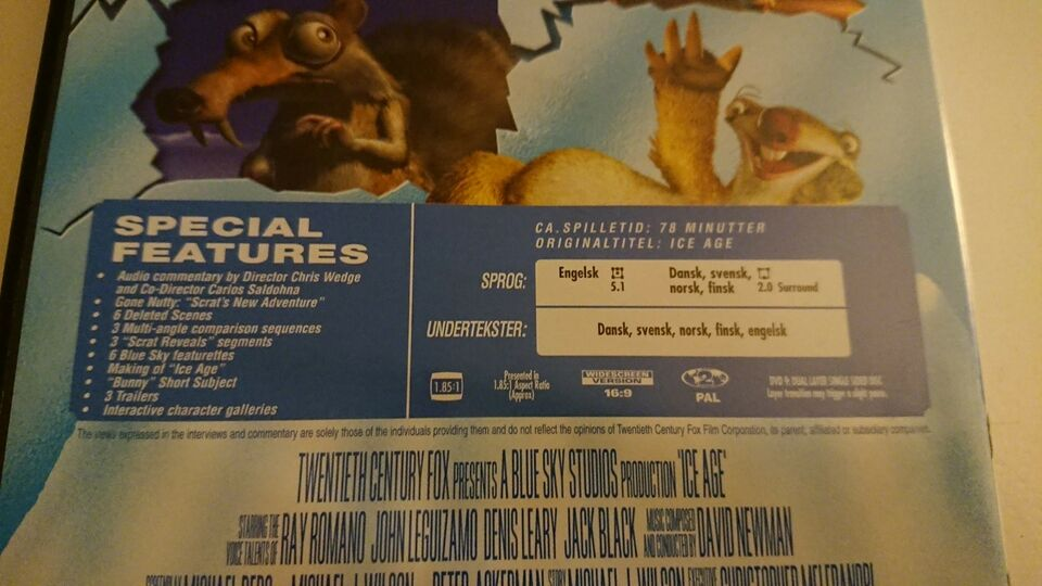 Ice Age, DVD, animation