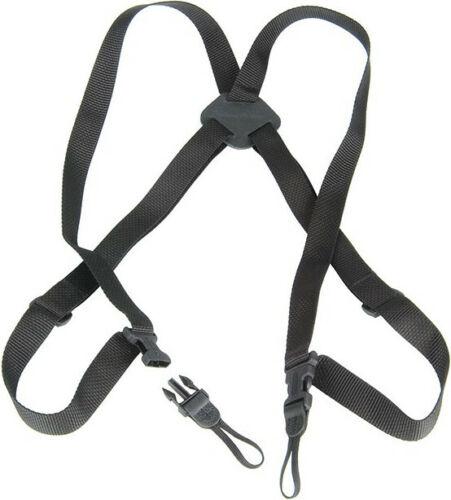 Black w//Webbing OpTech 5301412 BinoCam Chest Harness