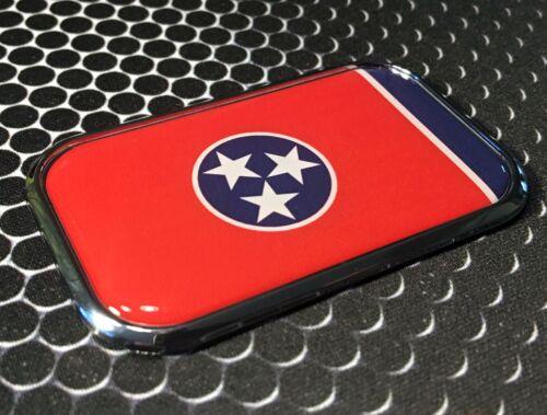 "Tennessee State Flag Domed CHROME Emblem Proud USA  Flag Car Sticker 3D 3/""x 1.8/"""
