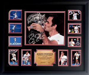 New Roger Federer Signed 2018 Australian Open Limited Edition Memorabilia Framed