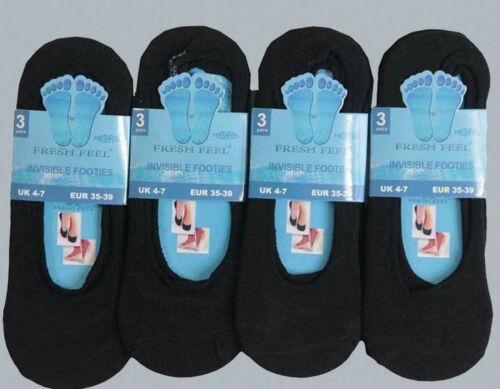 Invisible Trainer Chaussettes pour Summer hommes femmes noir et blanc coton riche Vendeur Britannique