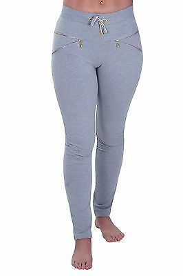 Womens Casual Skinny Fit Stretch Full Length Biker Leggings Trousers Pants