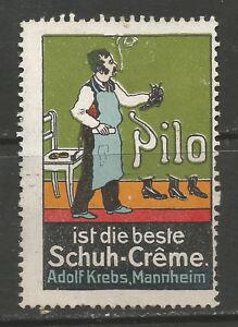 100% De Qualité Allemagne/mannheim Adolf Krebs Pilo Chaussure Creme Publicité Timbre/label-im Adolf Krebs Pilo Shoe Creme Advertising Stamp/labelfr-fr Afficher Le Titre D'origine