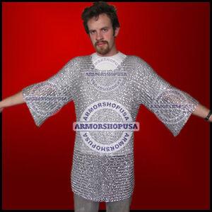 Kettenhemd-aus-Aluminium-Ruestung-Haubergeon-Kostuem-Ritter-Ritterkostuem